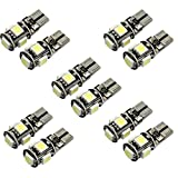 Ularma 10 x Canbus Error Free White T10 5 SMD 5050 W5W 194 16 Indoor LED Bulbs