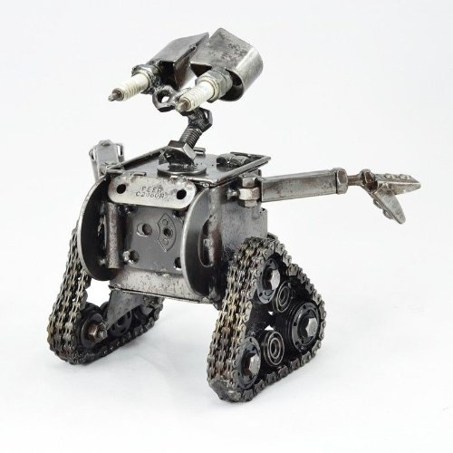 Image of Wall e - Metal Sculpture Walle - Handmade and fairtrade - Large 22cm tall