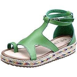 Wealsex Primavera y Verano Sandalias De Mujer Hebilla Zapatillas De Moda Tamaño 34-43