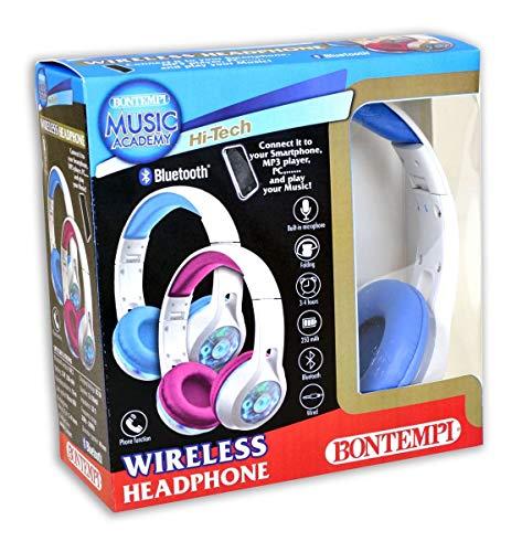 Bontempi-483000 Auricular con Luces Conexión Bluetooth, Multicolor (483000), colores surtidos