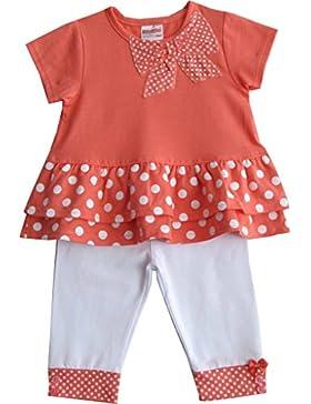 Schnizler Mädchen Bekleidungsset Leggings und Kurzarm Tunika, T-shirt mit Schleife