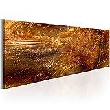 murando - Bilder 120x40 cm Vlies Leinwandbild 1 TLG Kunstdruck modern Wandbilder XXL Wanddekoration Design Wand Bild - Textur Gold Steine Abstrakt f-A-0467-b-b