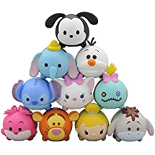 Disney Store Japan Limited NOS 43 NoseChara Disney Tsum Tsum Friends ver. Pack BOX Plush Toy Doll Stacking Dumbo Eeyore Tigger Marie Scrump Cheshire Cat Olaf Stitch Oswald Tinker Bell Ensky