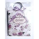 Flores decorado con aroma–Percha sobres–Pack de 3–elegir lavanda/rosa/vainilla/jazmín