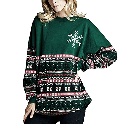 Vin beauty Frohe Weihnachten Druck Lange Ärmel Baumwollmischung Hemd (Ärmel T-shirt Pfeil-lange)