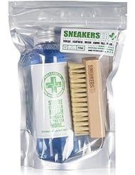 Sneakers ER Kit professionnel solution de nettoyage 250ml et brosse pour chaussures et textiles en cuir Gore-Tex et toile