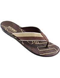 ADX Brown Color Slippers For Men - B0777MX8JB