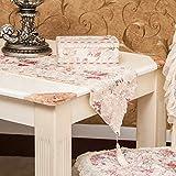 saejj-table corredores upscale tejidos | encaje Pastoral Estilo |ms. K Aurora soluble en agua | ancho | Table-cloth mantel, Rosa, 30*240