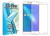 SDTEK Asus Zenfone 3 Max + ZC553KL 5,5 pouces Blanc Couverture complète Verre Trempé Protecteur écran Protection Résistant aux éraflures Glass Screen Protector Vitre Tempered