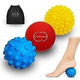 Gesamt Fuß Massagegerät Set (3Plantar Deep Tissue Massage Ball)–Trigger Point Tissue Arbeit für Plantarfasziitis, Ferse, Fuß Arch & mehr–Physiotherapie myofaszialer Release für effektive Schmerzlinderung