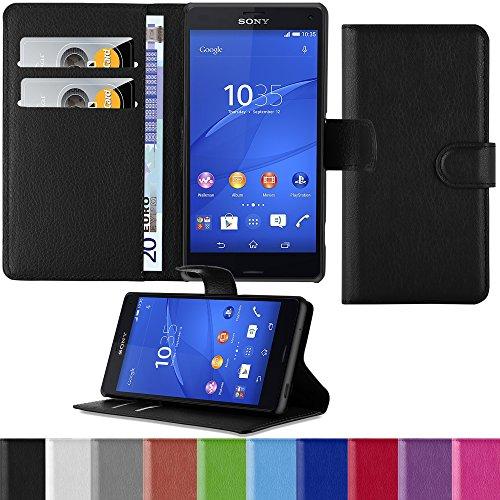 HANDYPELLE Premium Tasche für Sony Xperia Z3 Compact im Bookstyle in Schwarz