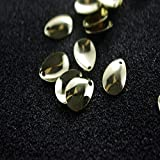 #10: gold : 50pcs/lot Fishing Spinner Rings Blades Smooth Nickel Spoons Plaice For Tackle Craft DIY bait fishing tool lure accessories