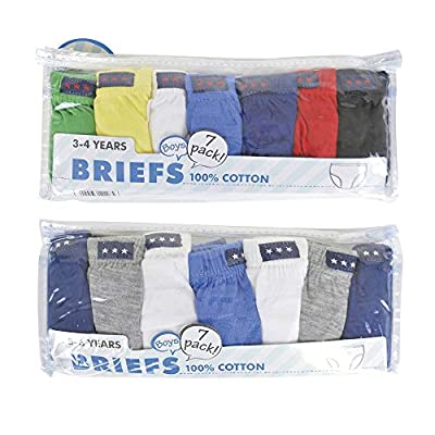 Boys Cotton Briefs 7 Multipack : everything 5 pounds (or less!)