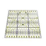 Hrph Reglas de patchwork acrílico escala exacta transparente regla hogar jardín artes artesanía herramientas de coser medida Accessorie