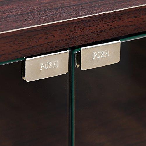 """51ngQrlUW9L - Furinno Indo fl-800ex Soporte de TV con Doble Puertas de Cristal y Ruedas, 2x 2,""""Espresso"""