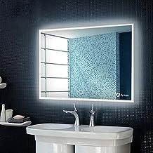 anten w mm luces de espejo cuadrado blanco fro kk