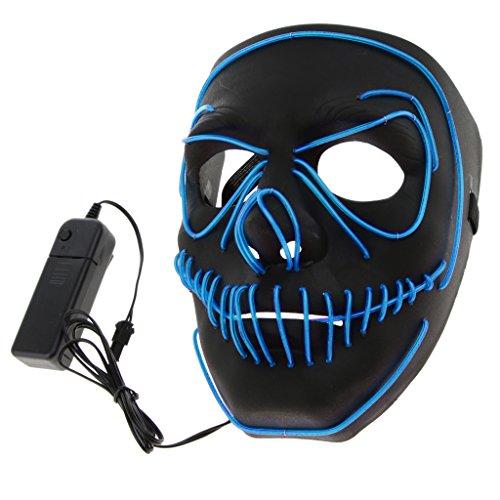 Baoblaze Akku LED Maske Beleuchtung Maske Schädel