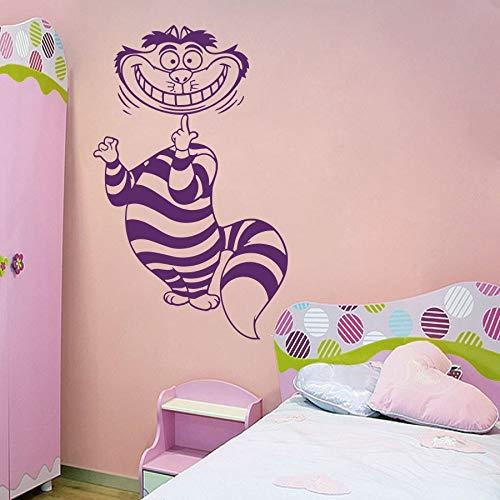 shire Cat Wandaufkleber Alice im Wunderland Charakter Wandbild Kinder Schlafzimmer Dekoration Wandkunst 42x68CM ()