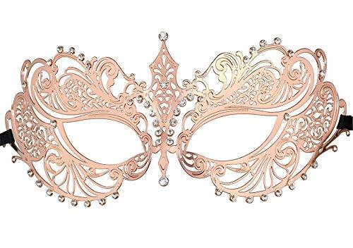 QincLing Damen Masquerade Maske Laserschnitt Venezianische Metallmaske Halloween Kostüm Maske