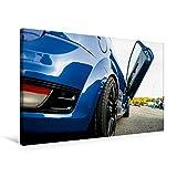Premium Textil-Leinwand 75 cm x 50 cm quer, Ford Focus Flügeltür | Wandbild, Bild auf Keilrahmen, Fertigbild auf echter Leinwand, Leinwanddruck (CALVENDO Mobilitaet)