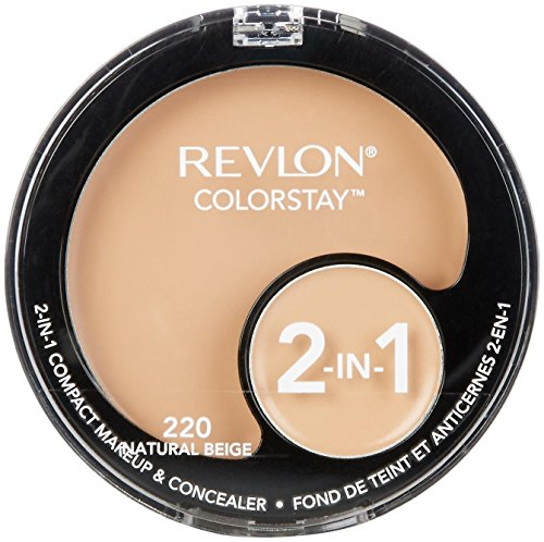 Revlon Colorstay 2-in-1 Compact Makeup and Concealer, Natural Beige