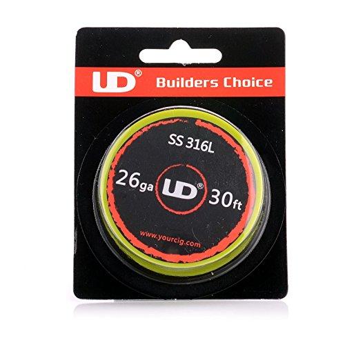 UD Youde Draht, Edelstahl, 316 l, 26AWG, 0,40mm,10Meter Spule