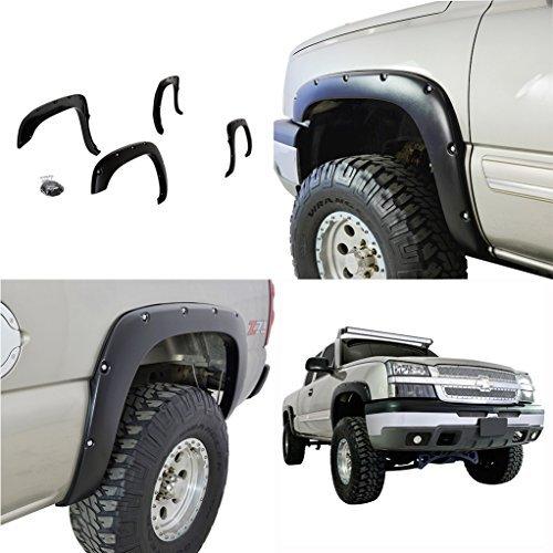 e-autogrilles-19290-black-fender-flare-99-06-chevrolet-silverado-gmc-sierra-pocket-rivet-style-wheel