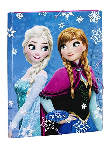 Disney Frozen- Carpeta Folio Gomas con 3 Solapas, Color Azul (SAFTA 511615068)