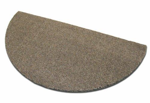 Deko-Matten-Shop Fußmatte Olefin, Schmutzfangmatte, halbrund, 50x100 cm, braun, in 16 Größen und...