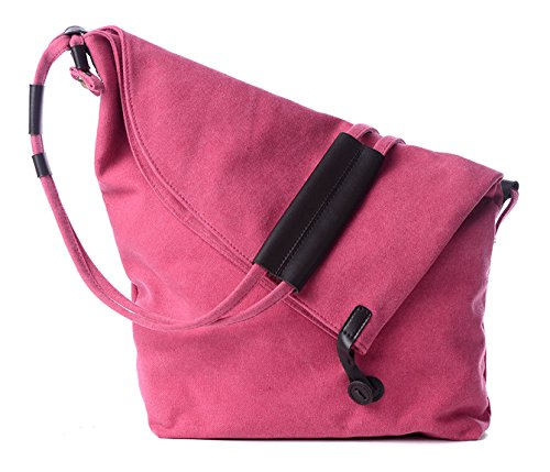 Longzibog Dual verstellbare Schultergurte und Hängeschlaufenband Mode Simple Style Fashion Tote Top Handle Schulter Umhängetasche Satchel Pink