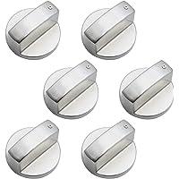 DXLing 6 Pezzi Universale Pomello per fornello a gas 6mm Metallo Stufa Gas Manopola Argento Adattatori Manopole…