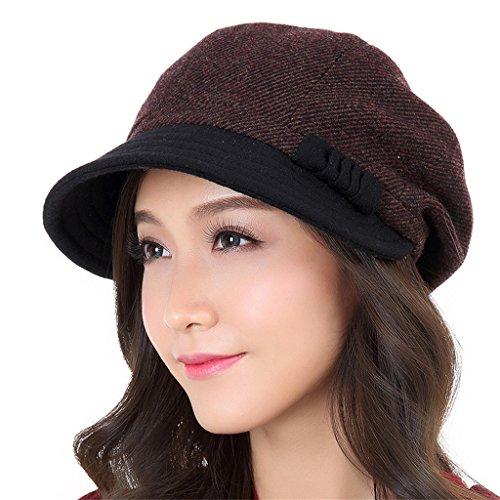 Bérets Automne Et D'hiver Femmes Mode Élégante Retro Chapeau Beau Etanche Restez Chapeau Chaud ( couleur : # 3 , taille : S ) # 3