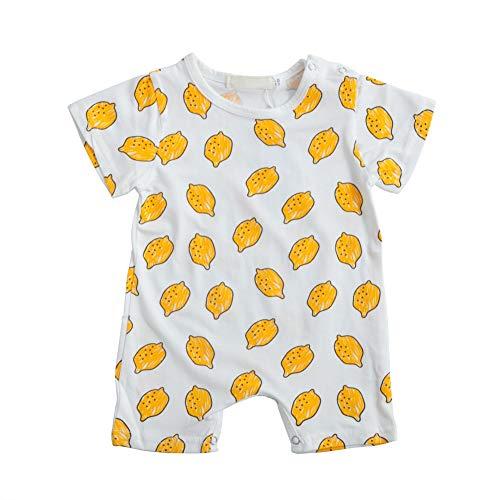 Hongyuangl Baby Junge Mädchen Strampler, Einteiler Spieler, Baumwolle Shorts Overall, Snap-Up Strampler 3-36 Monate -