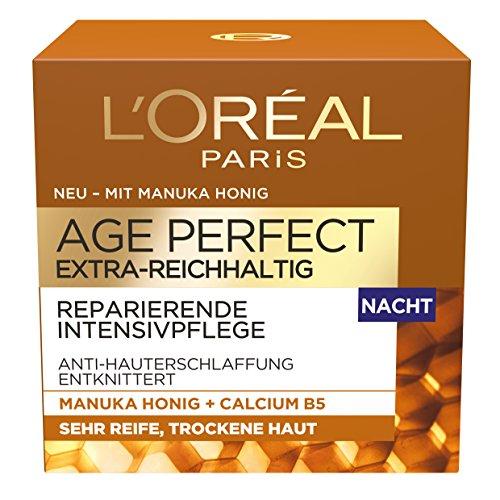 L'Oréal Paris Age Perfect Extra-Reichhaltig Manuka Nachtpflege, 1er Pack (1 x 50 ml)