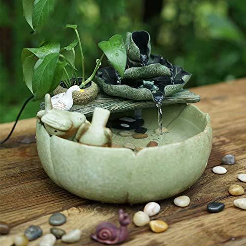 GL-Indoor fountain Fuente de Agua Interior Fuente Interior, Decoración del hogar Adornos de jardín Adornos de Feng Shui Regalo Ideal