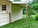 Kaminholzunterstand - Abmessungen: 125 x 303 cm (B x H)