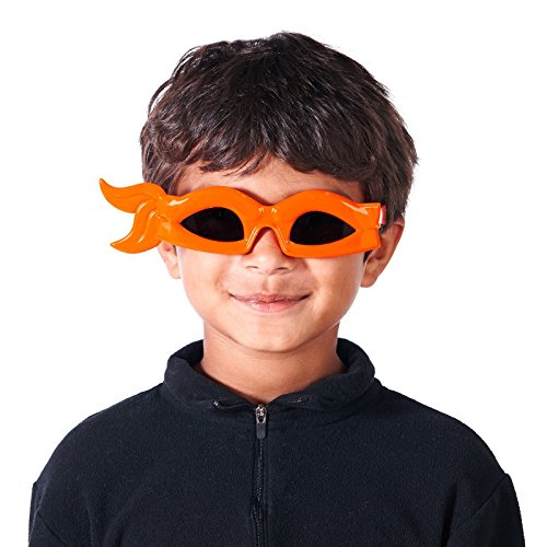(Sunstaches Officially Licensed TMNT bandana Glasses, Orange by Sun-Staches)