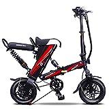 Lvbeis Erwachsene Elektrisches Fahrrad Faltendes Mountainbike Tragbares Pedelec E-Bike 20 KM/h E-Fahrrad Mit Hilfsmotor,red