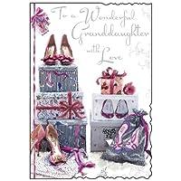 Granddaughter Shoes Birthday Card (JJ8375)