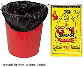 G-1 Extra Large | 29 inch X 39 inch | 4 Packs of 10 Pcs - 40 Pcs | Disposable Garbage Trash Waste Dustbin Bags - Black