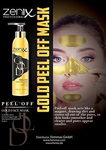Zenix Gold face Mask Peel - Goldene Peeling Maske gegen Pickel, Mitesser und Unreinheiten (1) - Pore Peel