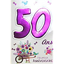 carte anniversaire 50 ans. Black Bedroom Furniture Sets. Home Design Ideas