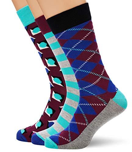 HS by Happy Socks Hs Argyle 3-Pack Socks