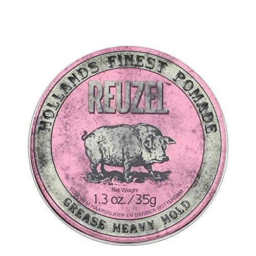 REUZEL Pomade Pink Grease Heavy Hold, 1er Pack (1 x 35 g) (X-heavy Roll)