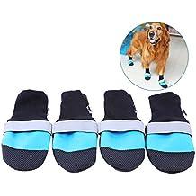 Protectores De La Pata Del Perro, Legendog 4PCS Calzado De Perro Caliente Impermeable Zapatos Antideslizantes
