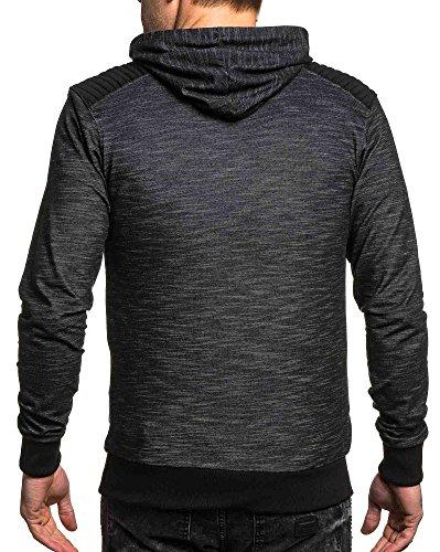 BLZ jeans - Gilet zippé homme noir chiné Noir