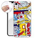 FINOO Comic Série Silicone Iphone XR - Tom & Jerry Comic Blam, Iphone XR