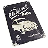 VW Beetle Blechschild Käfer Volkswagen Accessoires Klassik Schild The Original Ride 20x30cm
