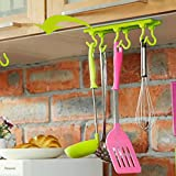 Ruon Deals® Kitchen Wall Door Self-Adhesive Bathroom Sticky Hanger Six Hook Hanger Cabinets Adhesive Hook (1 Pc, Assorted Colors)