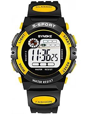 Children 's watch wasserdicht luminous multi - functional sports electronic-J
